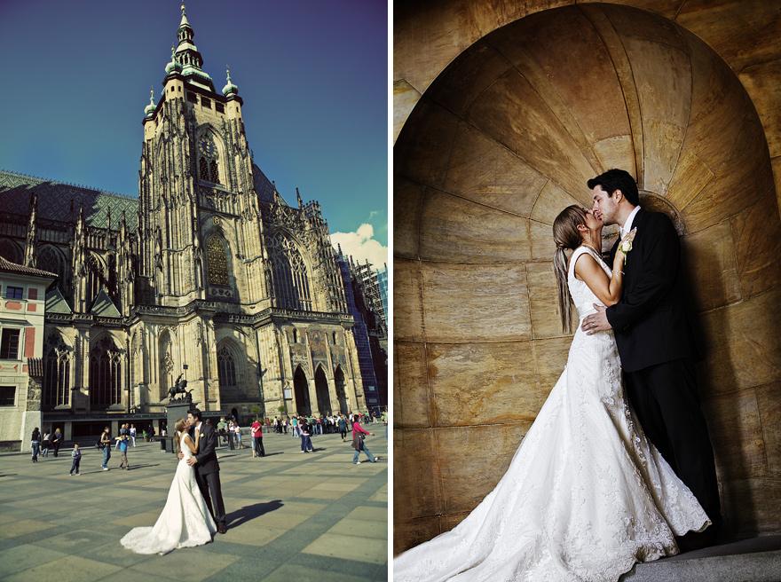 nevěsta a ženich v Praze