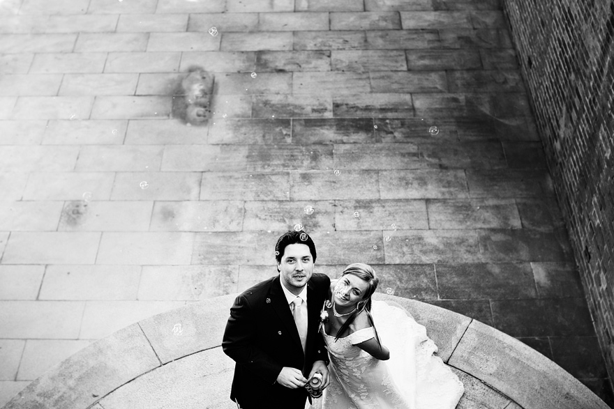 novomanželé u Viničního altánu