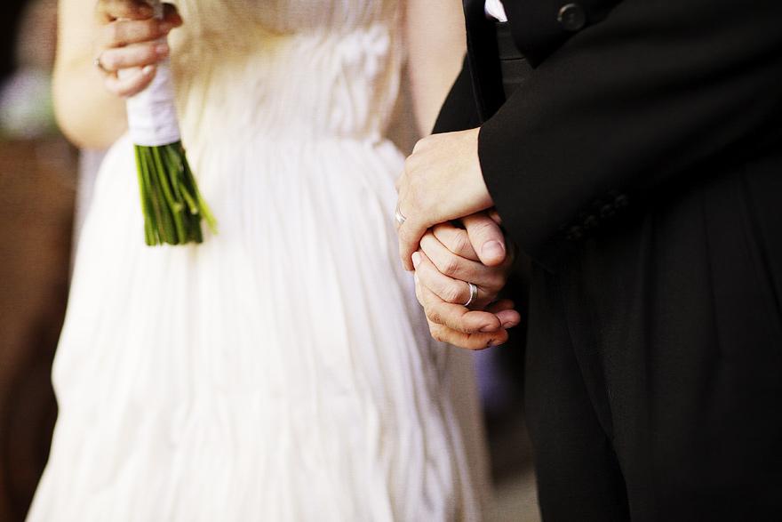 detail ze svatebního obřadu