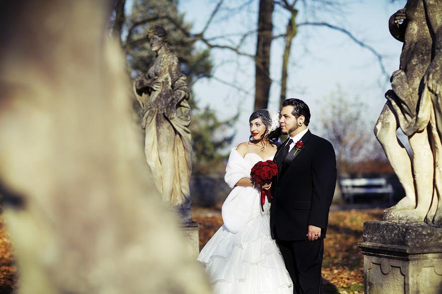 svatební fotografie na zámku Konopiště