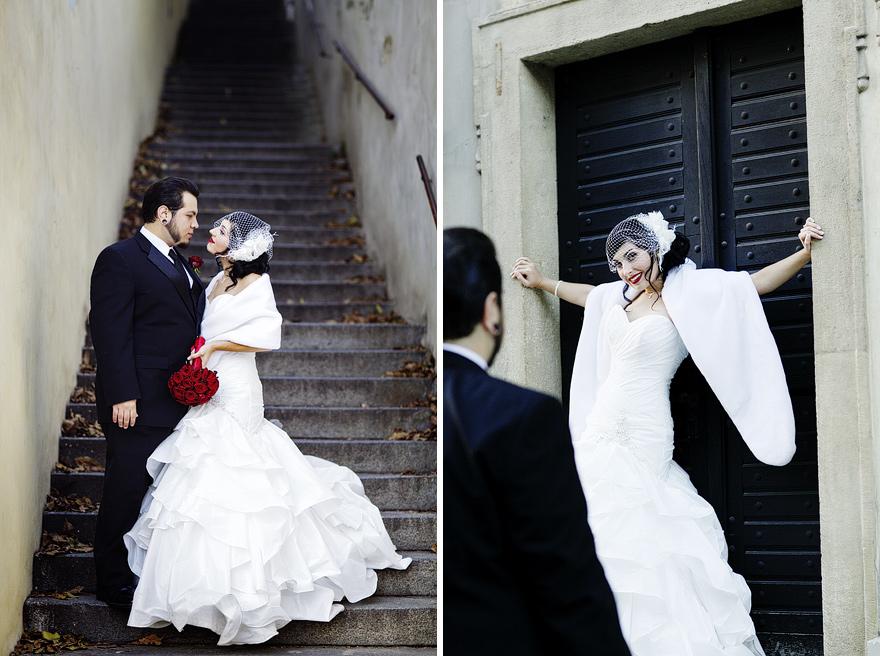 podzimní svatební fotografie v Praze