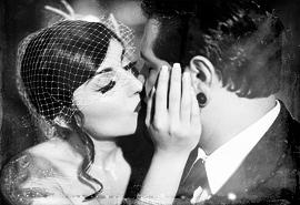 svatenní fotografie nevěsty a ženicha
