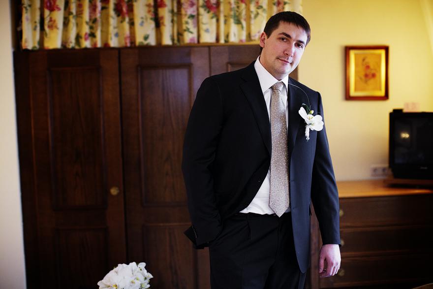ženich před svatbou