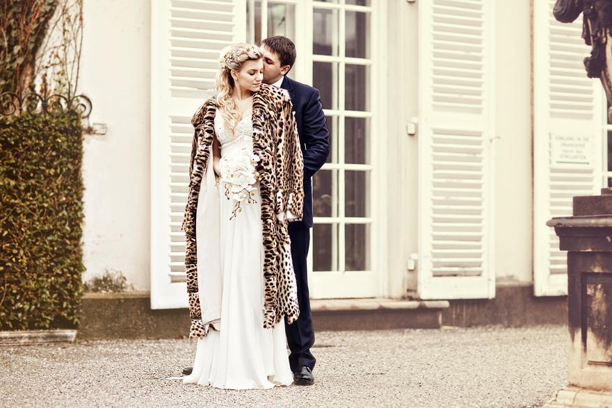 zimní svatební fotografie