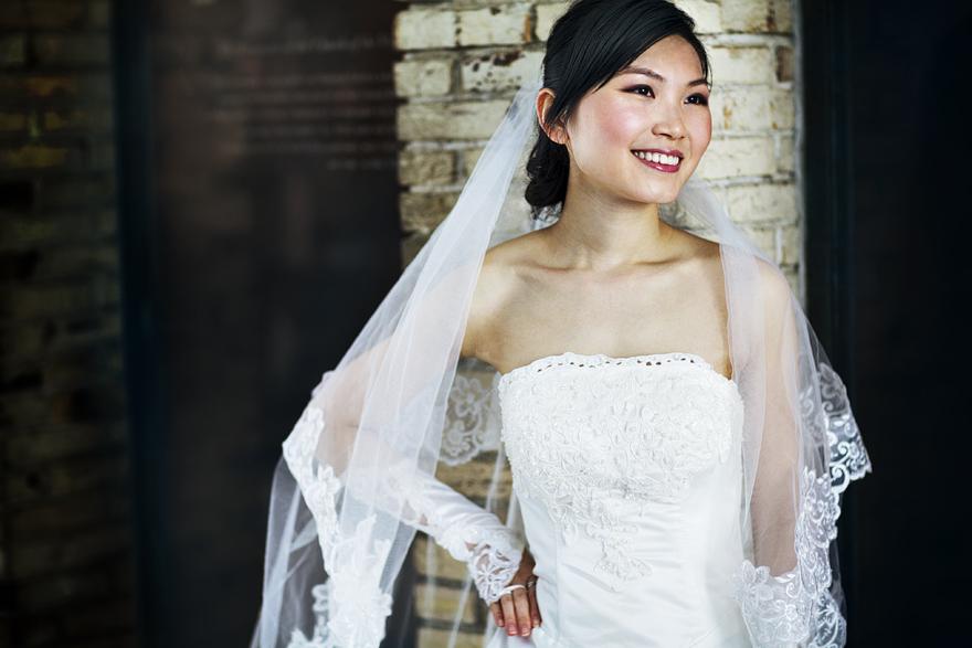 nádherná nevěsta v Praze