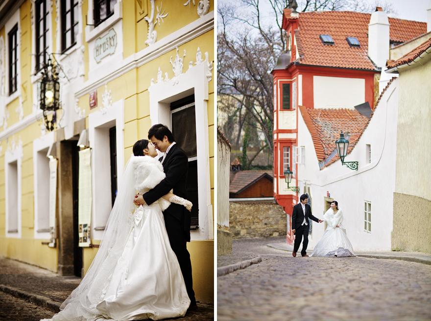 předsvatební fotografie v pražských ulicích