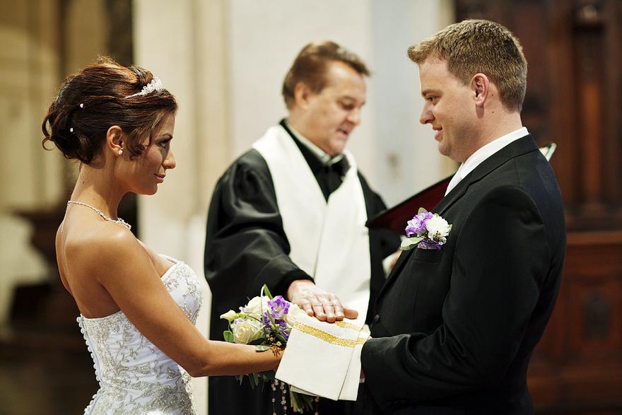svatební obřad v kostele sv. Mikuláše
