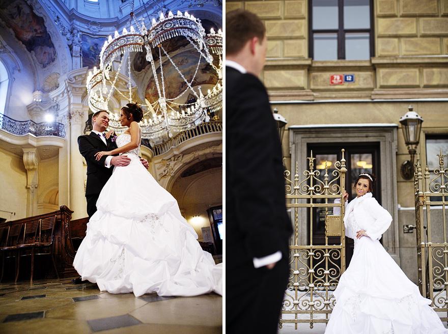 svatba v Praze v kostele sv. Mikuláše