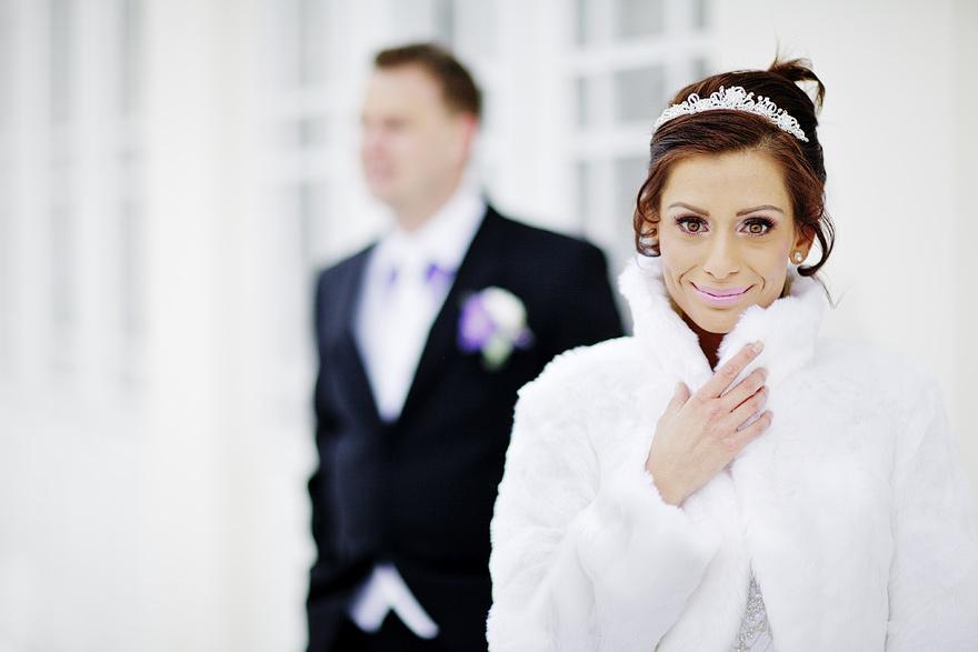zimní svatební fotografie v Praze