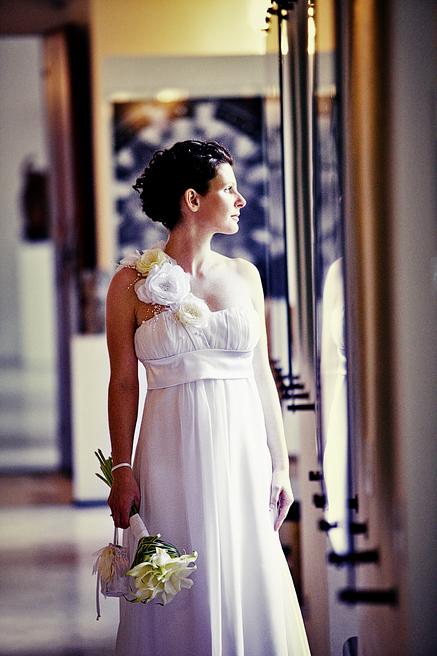 svatební fotografie nevěsty