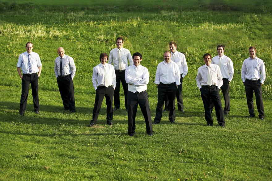 pánové na svatbě na Zelené Hoře