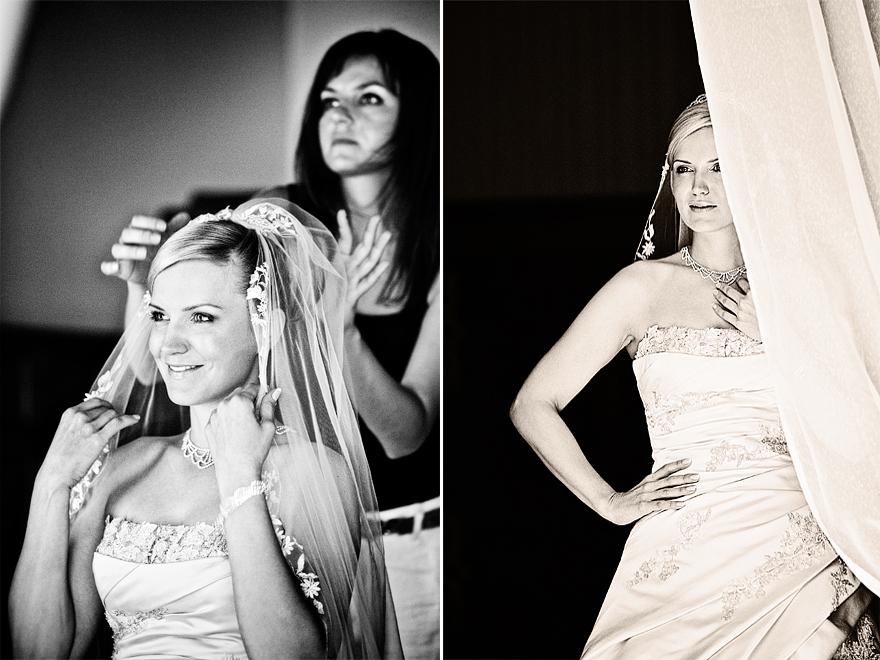 příprava nevěsty před svatbou