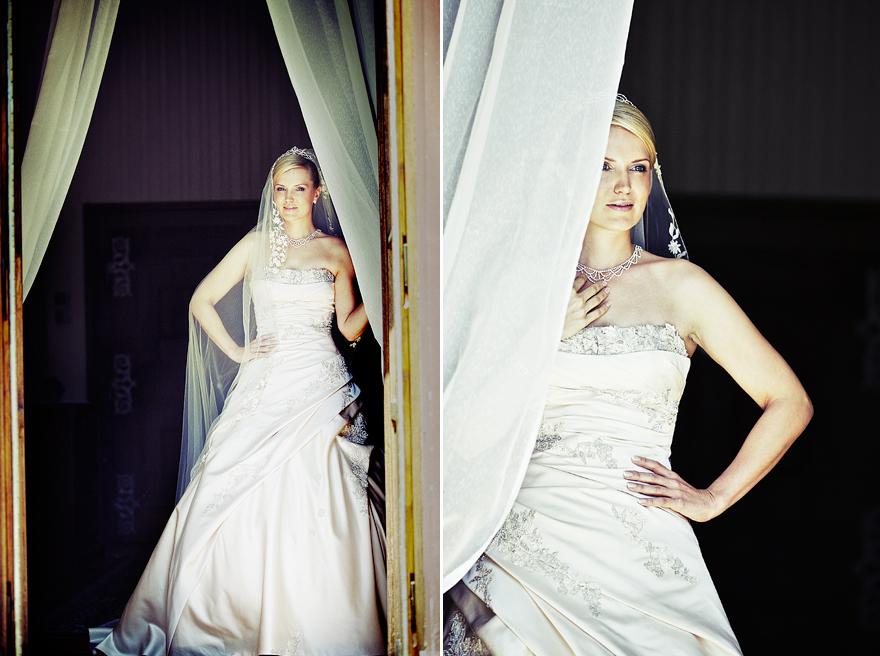 nádherná nevěsta na zámku Lnáře