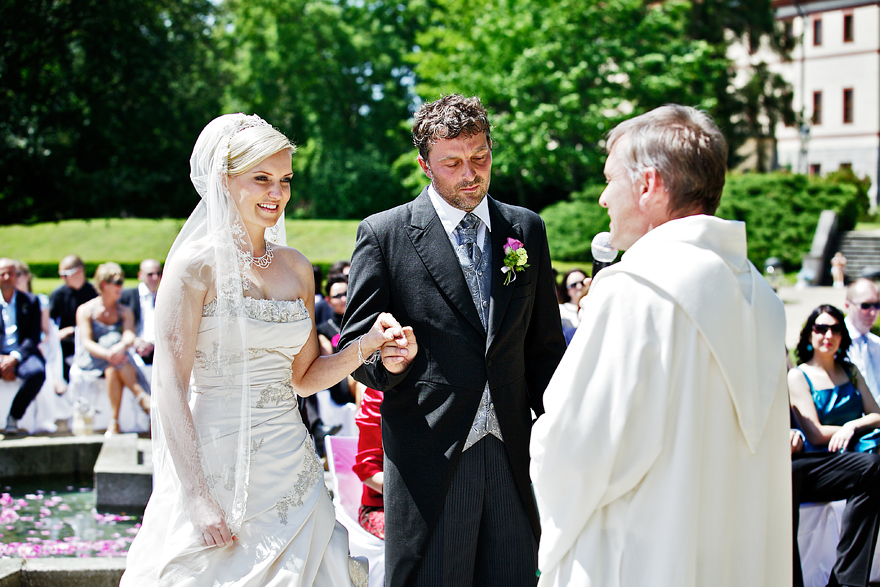 svatební obřad na zámku