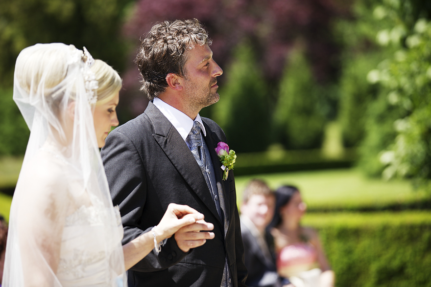 svatební fotografie na zámecké zahradě