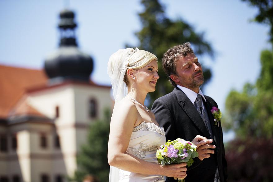 svatba na zámku Lnáře