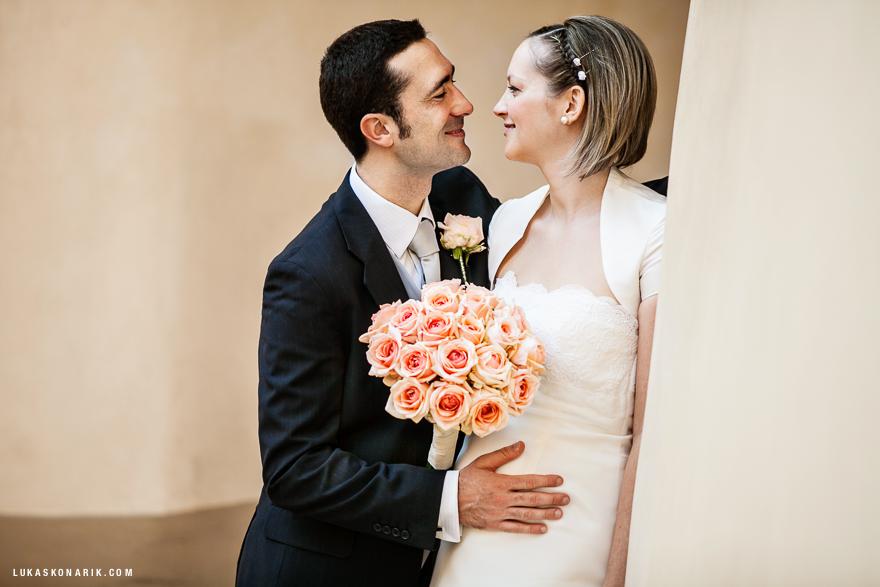 novomanželé na Libeňském zámečku