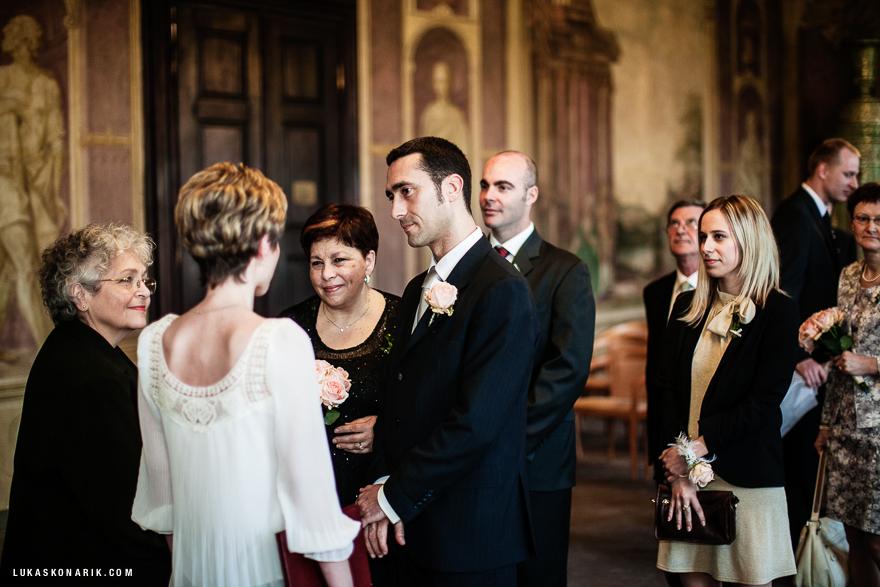 svatební obřad na Libeňském zámečku