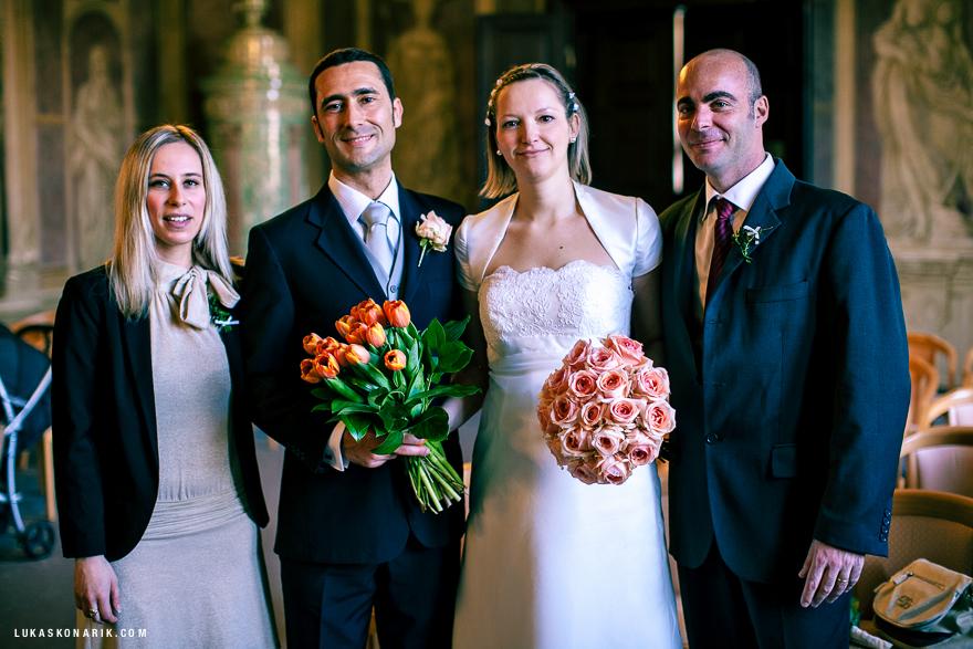 rodinná svatební fotografie