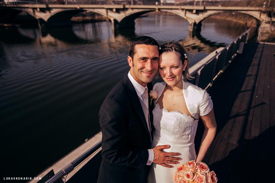 svatební fotografie v GreenYacht hotel Praha