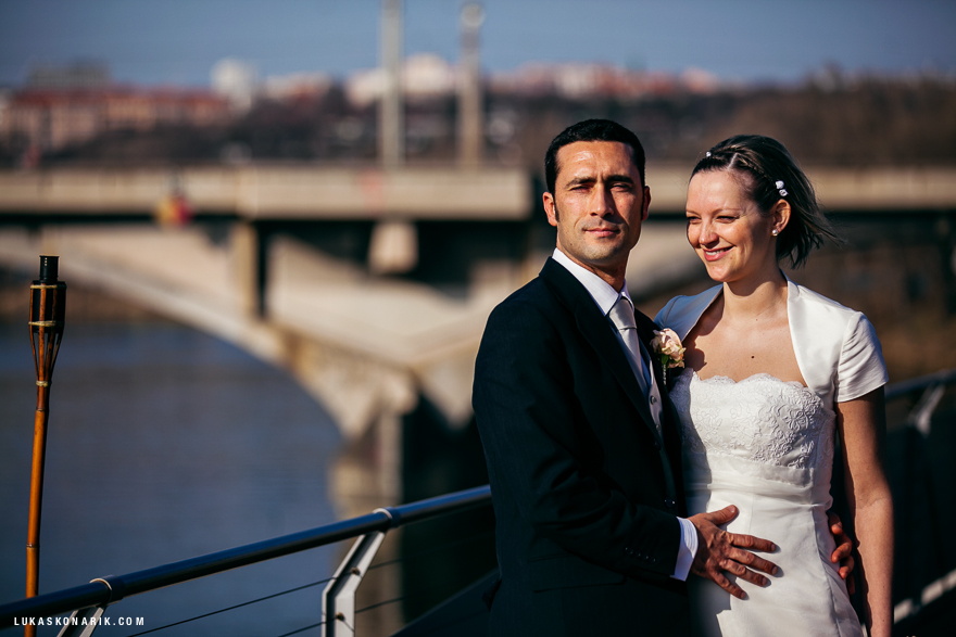 novomanželé na Green Yacht hotel Praha
