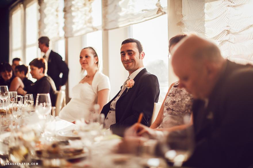 svatební hostina v hotelu Green Yacht Praha