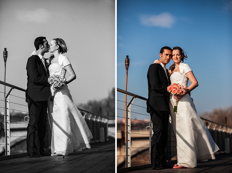 jarní svatební fotografie v Golf Yacht Praha