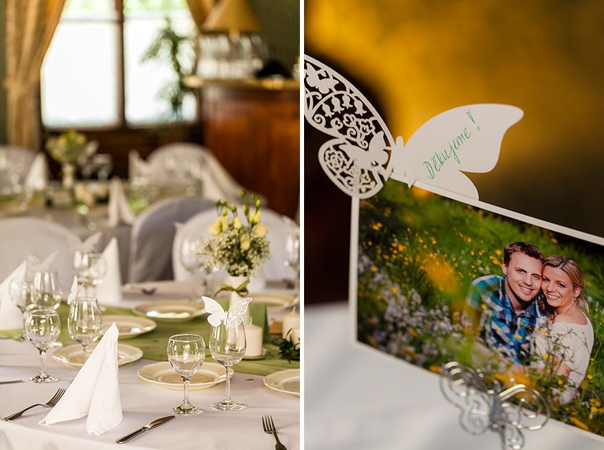 motýlkový svatební catering