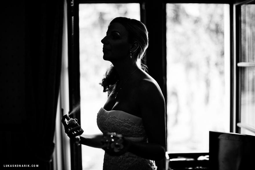 příprava nevěsty na svatbu v St. Havel