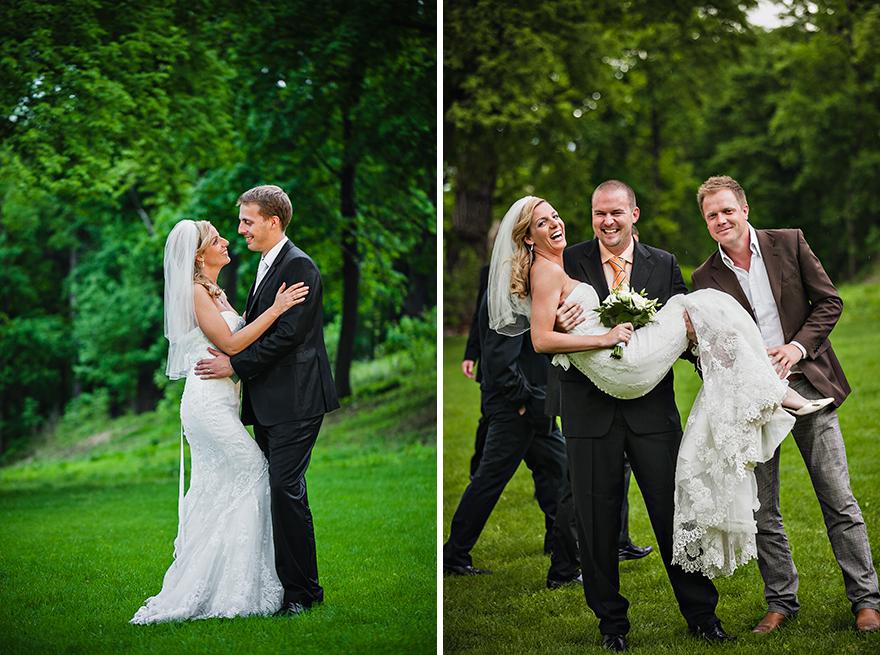 svatební fotografie na zahradě St. Havel