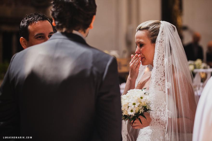 emoce nevěsta svatební obřad