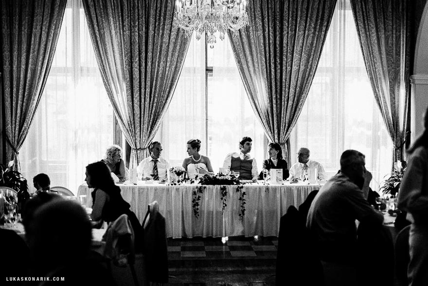 svatební hostina v Kaiserštejnském paláci