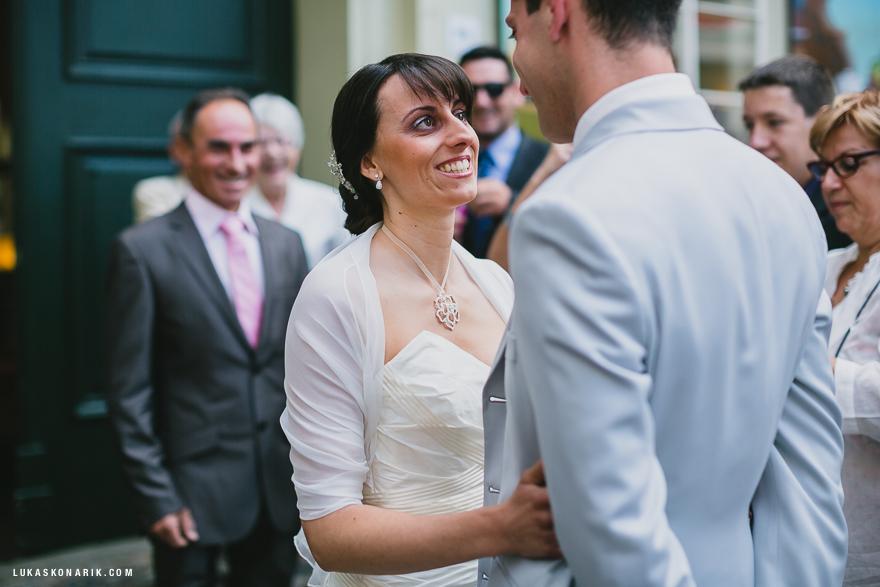 snoubenci před svatebním obřadem