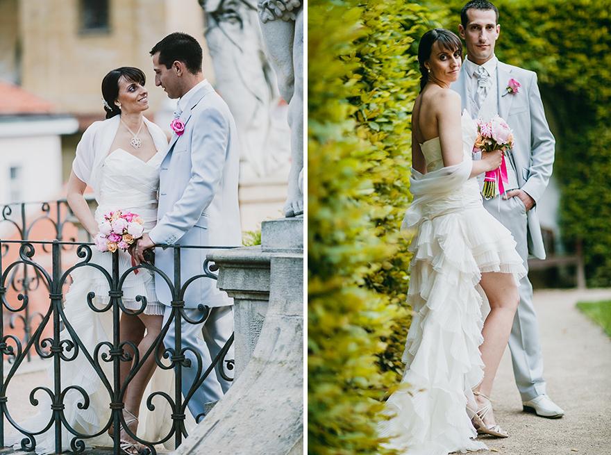 nejlepší svatební fotografie Vrtbovská zahrada v Praze