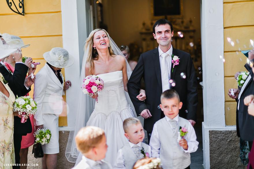 novomanželé na zámku Kozel
