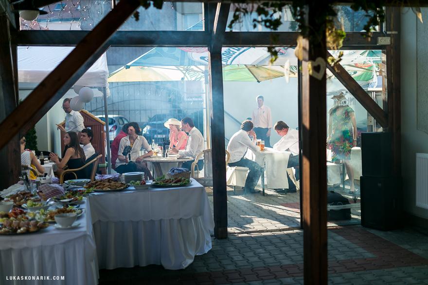 svatební oslava u zámku Kozel