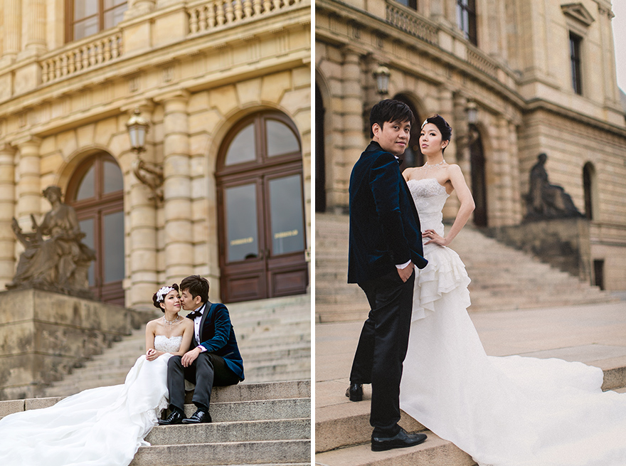 svatební fotografie u Rudolfina