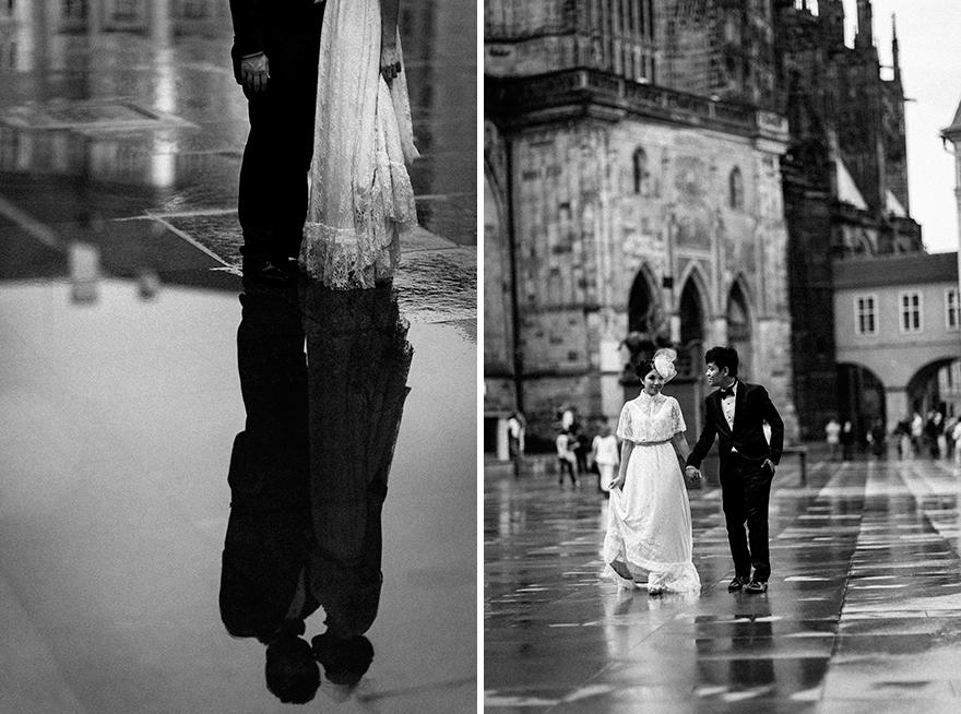 skvělé svatební fotografie v dešti