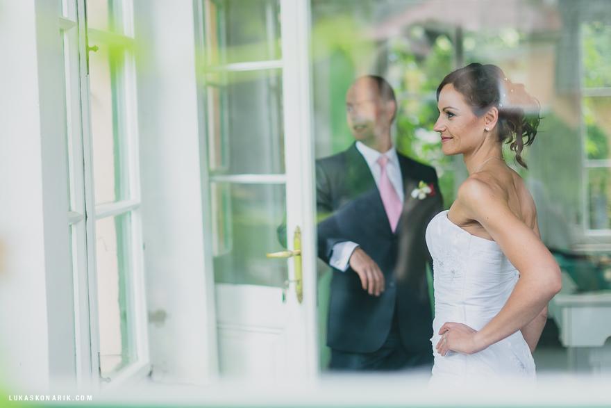 novomanželé na zámku Úsobí