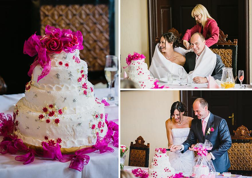 svatební dort na zámku Úsobí
