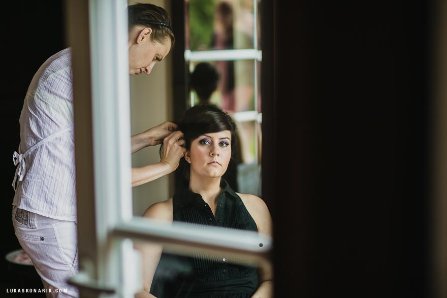 příprava nevěsty na svatbu