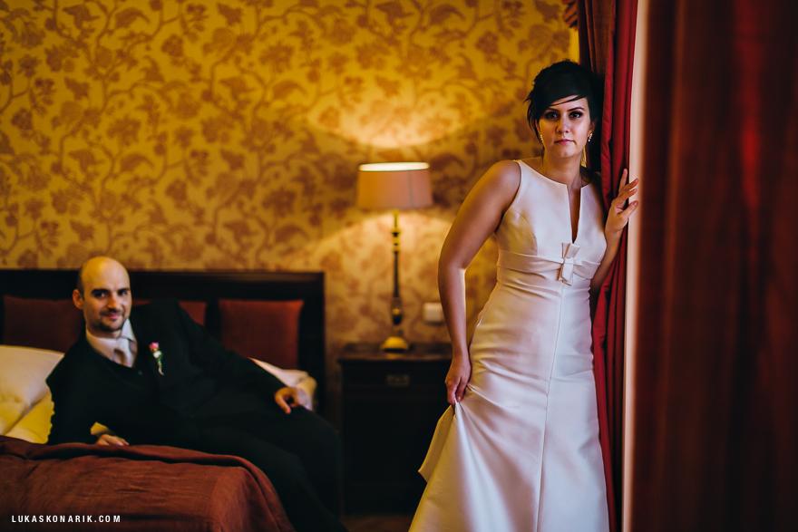 novomanželé v rezidenci Liběchov