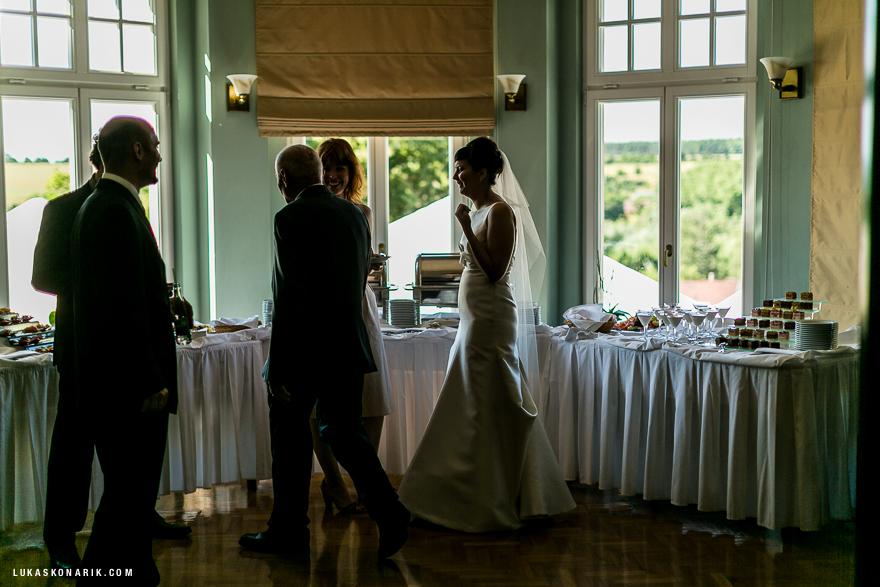 svatební hostina v rezidenci Liběchov