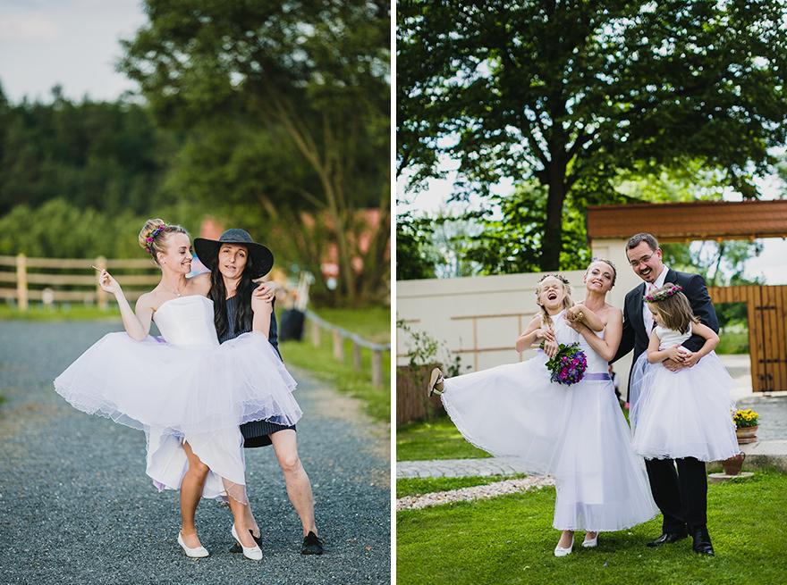 momenty ze svatby na farmě Blaník