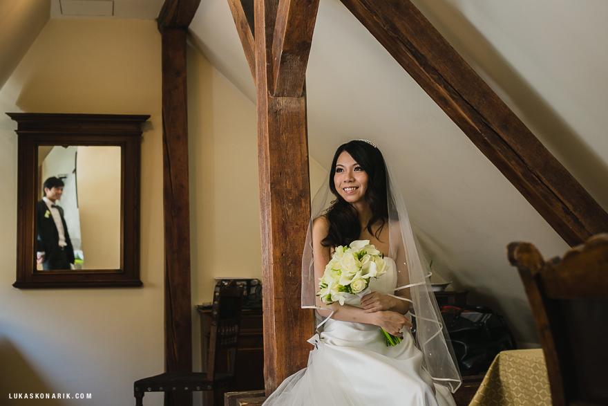 nevěsta před svatbou