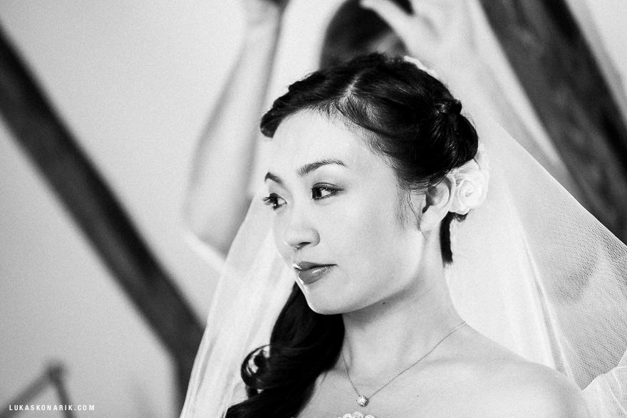 nejlepší svatební fotografie v Praze - nevěsta