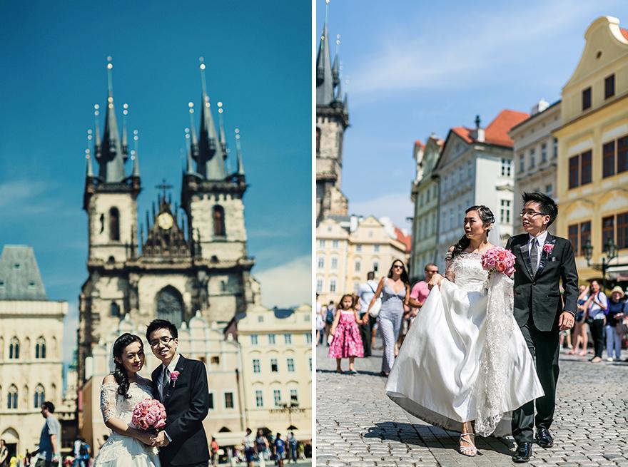 svatební fotografie na Staroměstském náměstí v Praze