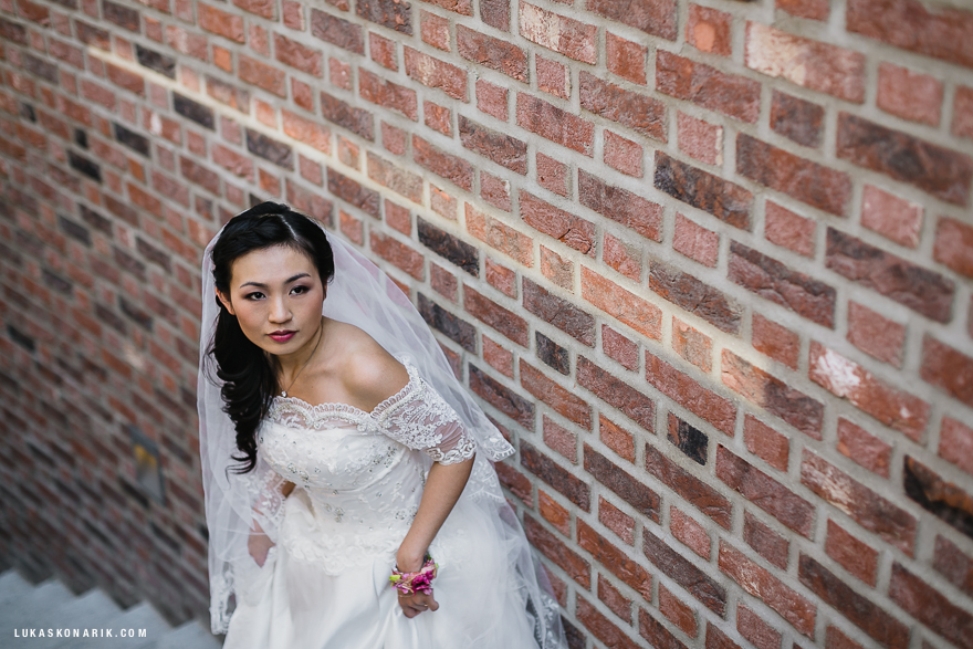 fotografie nádherné nevěsty v Praze