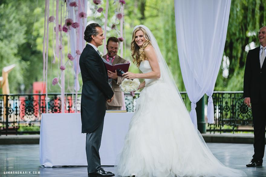 svatební obřad v Praze na Žofíně