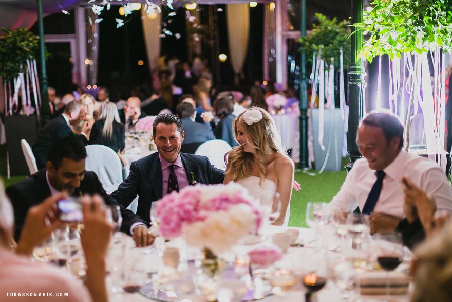 svatební oslava na Žofíně